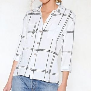 Nasty Gal 'Off The Grid' Button Up
